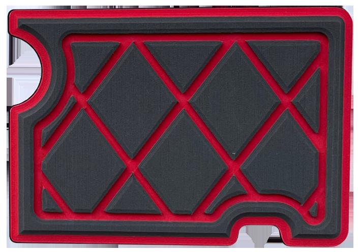Diamond Pattern Charcoal : Red